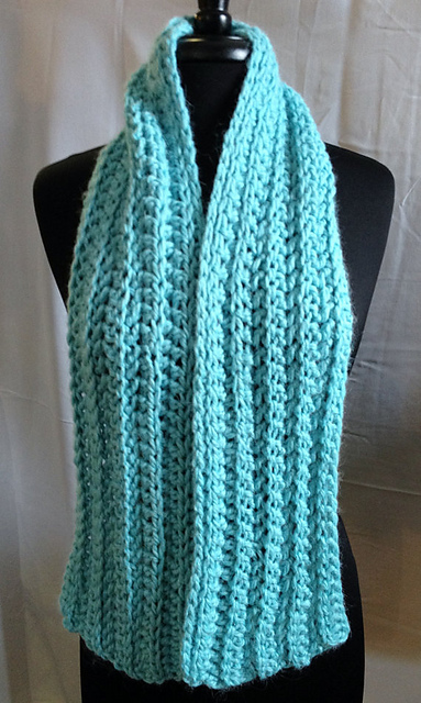 Crochet Shawl Patterns With Bulky Yarn : Free Crochet Pattern ? Bulky Ribbed Scarf Alpaca Meadows