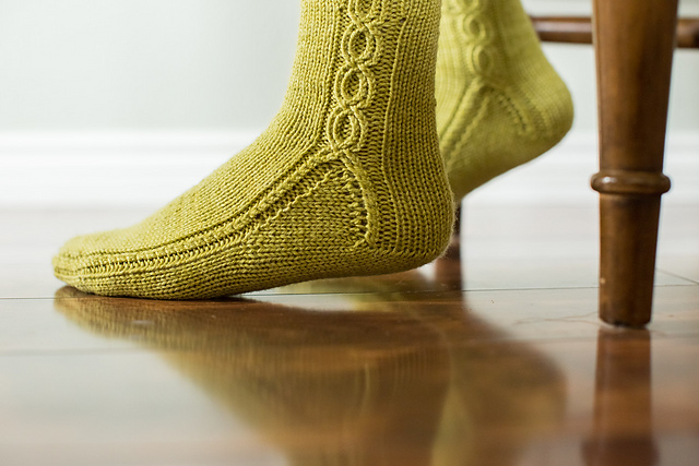 Washington State Knee Socks by Kate Atherley lime green Sportmate