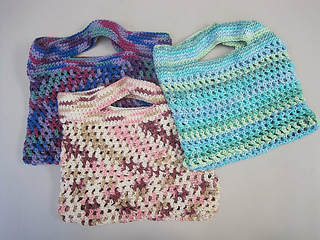 Free Crochet Patterns For Grocery Bags : Free Crochet Patterns: Free Crochet Market Bags Patterns