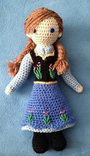 Crochet Frozen Anna Doll : Ravelry: Anna -