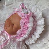 Ravelry: Frilly Crochet Bonnet Pattern For Baby Girls ...