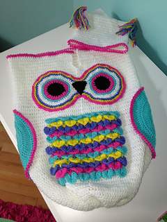 Crochet Owl Baby Cocoon : Ravelry: 245- Owl Cocoon Baby #245 pattern by ShiFios Patterns