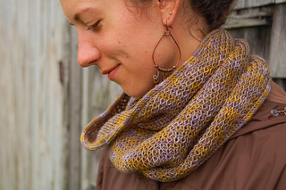Bristol Ivy fingering weight cowl knit soon by Alanna Nelson