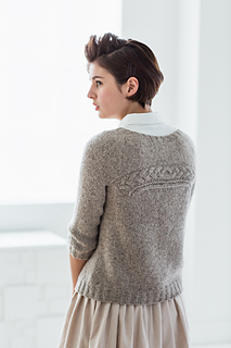 Back of the Coda sweater by Olga Buraya-Kefelian