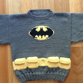 Knitting Pattern Batman Jumper : Ravelry: Mini Batman Logo Chart pattern by Elizabeth Thomas