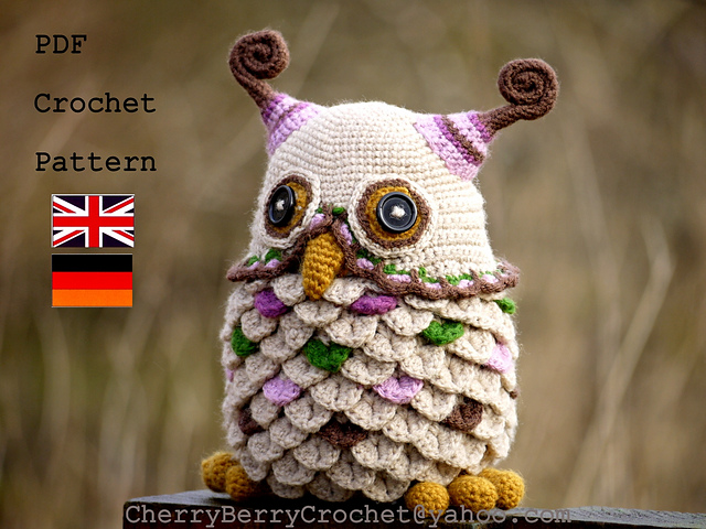 Owl Toy or Container Crochet