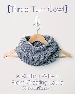 Creating Knitting Patterns : Ravelry: Three-Turn Cowl pattern by Laura Doty
