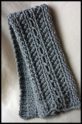 Free Crochet Pattern 90558AD Cable Lace Scarf and Cabled