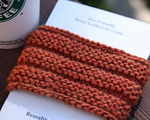 Knitted Corrugated Cup Cozy/Sleeve PDF