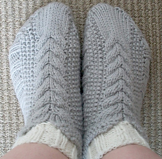 Cabled_cozies_slippers_from_top