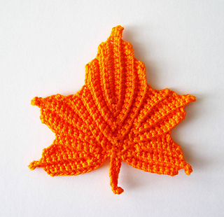 Free Maple Leaf Potholder Crochet Pattern : Ravelry: Maple Leaves Applique Crochet Pattern pattern by ...