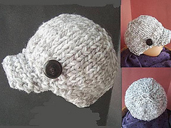 Ravelry: KNITTED NEWSBOY HAT, newborn to adult pattern by Emi Harrington