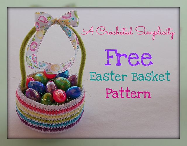Easy Easter Basket A Crocheted Simplicity