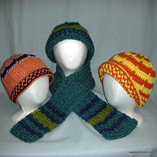 Raised-stripe-hats-and-scarf-free-crochet-pattern_small2