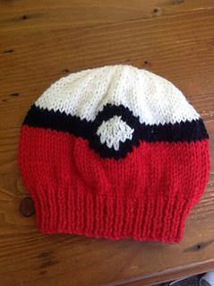 Knit Beanie Pattern Ravelry : Ravelry: Pokemon Pokeball Beanie pattern by The Knit Guru