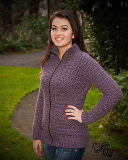 Burnside Cardigan Women pattern by Katy Petersen