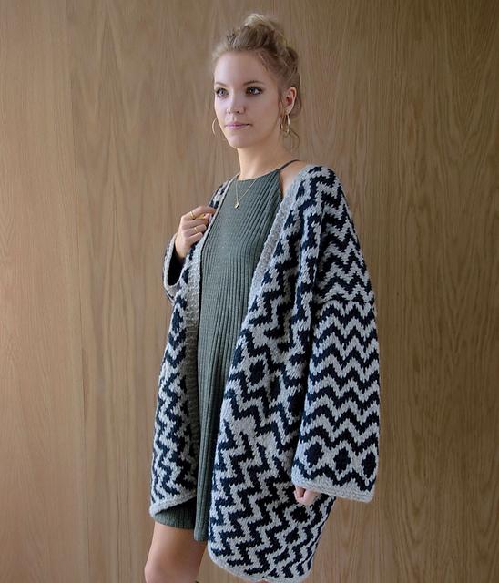 提花毯式外套--仿GINA(吉娜)-Kim Hargreaves - Tina - Tina的手工编织的博客