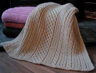 Irish Knit Baby Blanket Pattern : Ravelry: Loom Knit Easy Aran Baby Blanket pattern by Faith Schmidt