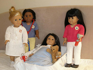 Ravelry: American Girl 18? doll Nurses at Work pattern by Ase Bence