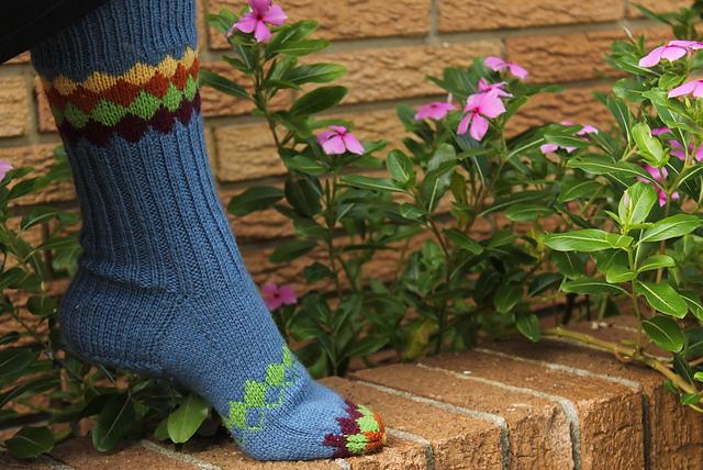 Interlock Socks par Laura Andrews