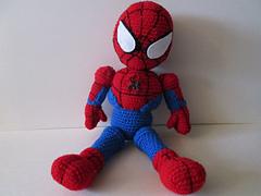 Free Amigurumi Spiderman Pattern : Ravelry: Crochet Spiderman doll pattern by Laurie LeFave