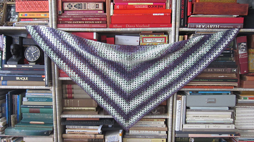 Beginner_s_triangle_shawl_on_bookcase_medium