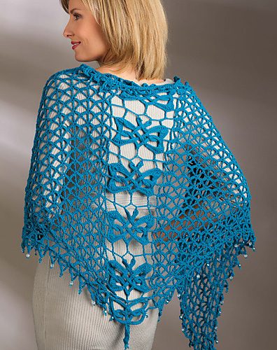 Celtic Knot Crochet: Feileacan Shawl - Gaelic for