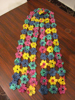 Puff_flower_scarf_-_maroon__blue_green_yellow_3_small2