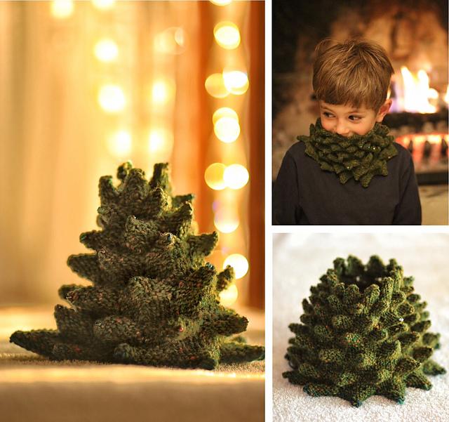 Col sapin tricoté Tree par Nim Teasdale