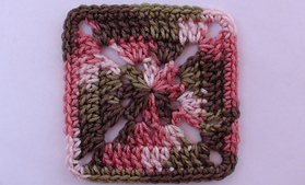 Crossed Double Crochet Afghan Block ~ Oombawka Design