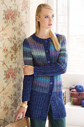 #21 Faux Cables Long Cardigan PDF