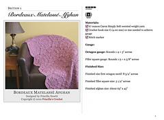 Ravelry Bordeaux Matelass 233 Afghan Pattern By Priscilla Hewitt