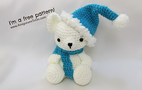 Amigurumi To Go Teddy Bear : Ravelry: Christmas Hat & Scarf For Teddy Bear pattern by ...