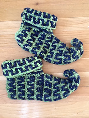 Ravelry: Elf Slippers: Crochet (archived) pattern by Kj Hay