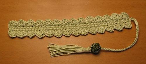 Crocheted_shell_bookmark_-_sage_medium