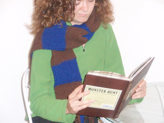 Knitted_ravenclaw_scarf_acrylic_modeled_by_cat_small2