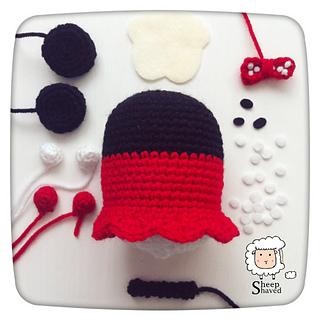 Amigurumi Tsum Tsum Free Pattern : Ravelry: Minnie Mouse Tsum Tsum pattern by Sheep Shaved