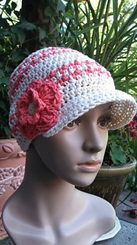 Free Crochet Pattern Houndstooth Hat : Ravelry: Hounds Tooth Beanie Hat pattern by Kathy Lashley