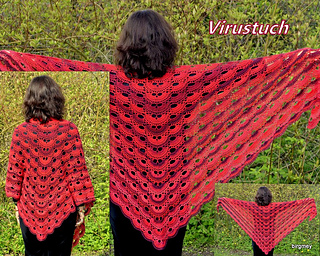 Virus shawl / Virustuch by Julia Marquardt