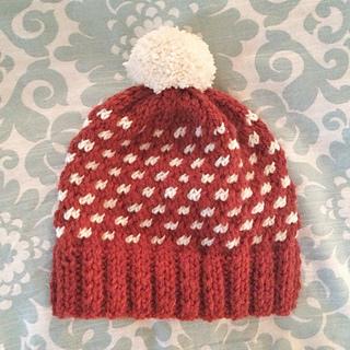 Ravelry Pretty In Polka Dots Hat Pattern By Brittany Jones