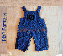 Free Crochet Pattern Minion Overalls : Ravelry: Minion Overalls with Dr Glu Lab Logo, Buttons at ...