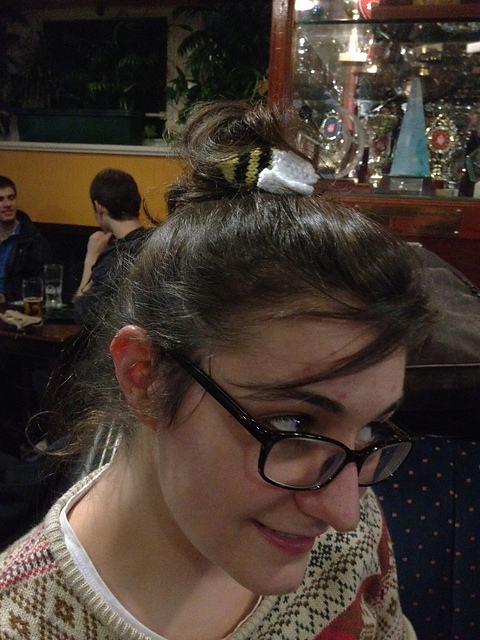 H with a hair-bee!