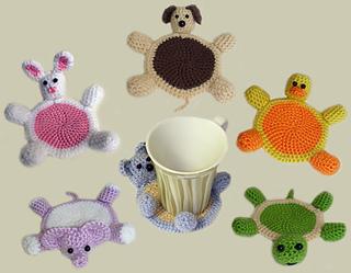Ravelry: Amigurumi Animal Coasters pattern by Rachel Choi