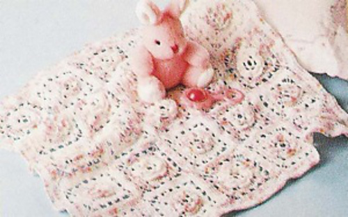 Free Crochet Rose Blanket Pattern : Ravelry: Rose Square Baby Afghan pattern by Lion Brand Yarn