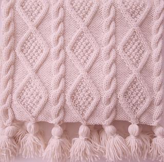 Designer Aran Knitting Patterns : Ravelry: Aran Cable Scarf and Throw pattern by Audrey Wilson