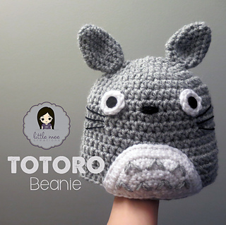 Crochet Pattern Totoro Hat : Ravelry: My Neighbor Totoro Beanie Hat pattern by Doris Yu