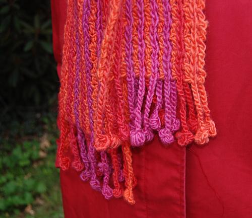 Bobble Fringe Scarf Pdf At Fiberwild Knitting Yarns Needles