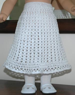 Ravelry: American Girl Doll Lace Skirt pattern by Elaine Phillips
