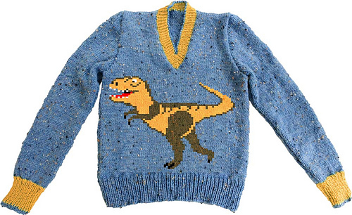 S_t_rex_on_blue_jumper_medium