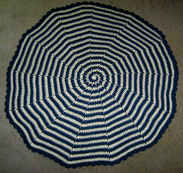 Spiral Baby Blanket by Amber of Cthulhu Crochet